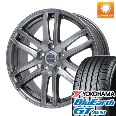 今がお得! 送料無料 215/45R17 17インチ サマータイヤ ホイール4本セット BRANDLE ブランドル G61 7J 7.00-17 YOKOHAMA ブルーアース GT AE51