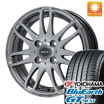 今がお得! 送料無料 175/65R14 14インチ サマータイヤ ホイール4本セット BRANDLE ブランドル G72 5.5J 5.50-14 YOKOHAMA ブルーアース GT AE51