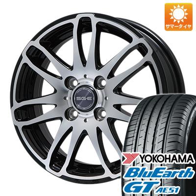 今がお得! 送料無料 185/55R15 15インチ サマータイヤ ホイール4本セット BRANDLE ブランドル G72B 5.5J 5.50-15 YOKOHAMA ブルーアース GT AE51