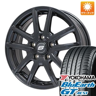 【送料無料】 205/55R17 17インチ BRANDLE ブランドル M61B 7J 7.00-17 YOKOHAMA ヨコハマ ブルーアース GT AE51 サマータイヤ ホイール4本セット