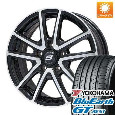 今がお得! 送料無料 225/40R18 18インチ サマータイヤ ホイール4本セット BRANDLE ブランドル M61BP 7.5J 7.50-18 YOKOHAMA ブルーアース GT AE51