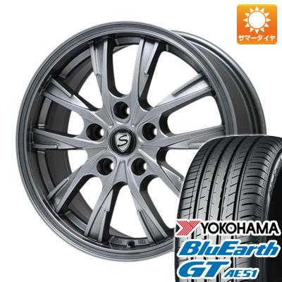 【送料無料】 205/55R17 17インチ BRANDLE ブランドル 486 7J 7.00-17 YOKOHAMA ヨコハマ ブルーアース GT AE51 サマータイヤ ホイール4本セット