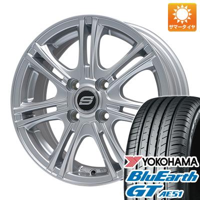 今がお得! 送料無料 175/65R14 14インチ サマータイヤ ホイール4本セット BRANDLE ブランドル M68 5.5J 5.50-14 YOKOHAMA ブルーアース GT AE51