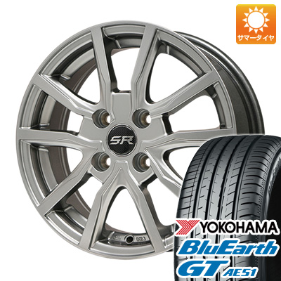 今がお得! 送料無料 185/65R15 15インチ サマータイヤ ホイール4本セット BRANDLE ブランドル N52 5.5J 5.50-15 YOKOHAMA ブルーアース GT AE51