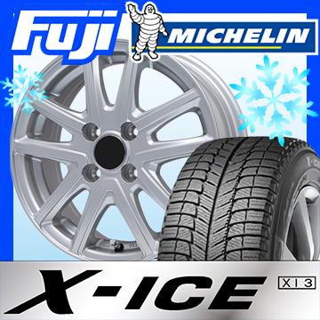 【送料無料 4穴/100】 MICHELIN ミシュラン X-ICE XI3 195/55R15 15インチ スタッドレスタイヤ ホイール4本セット BRANDLE ブランドル M61 6J 6.00-15