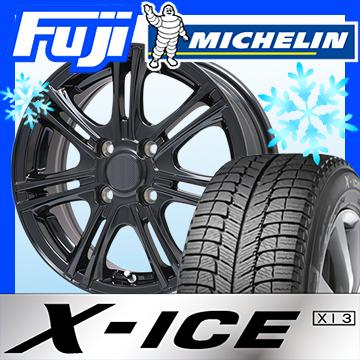 【送料無料 4穴/100】 MICHELIN ミシュラン X-ICE XI3 195/55R15 15インチ スタッドレスタイヤ ホイール4本セット BRANDLE ブランドル M68B 5.5J 5.50-15