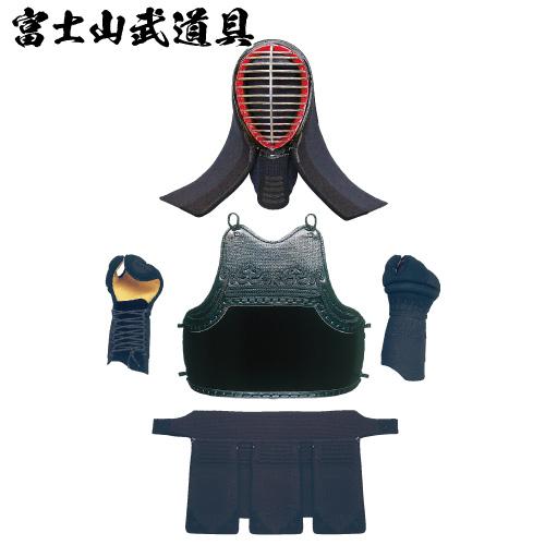 剣道防具 【制菌16号】 5m/m刺 紺紐付 面・胴・甲手・垂4点セット