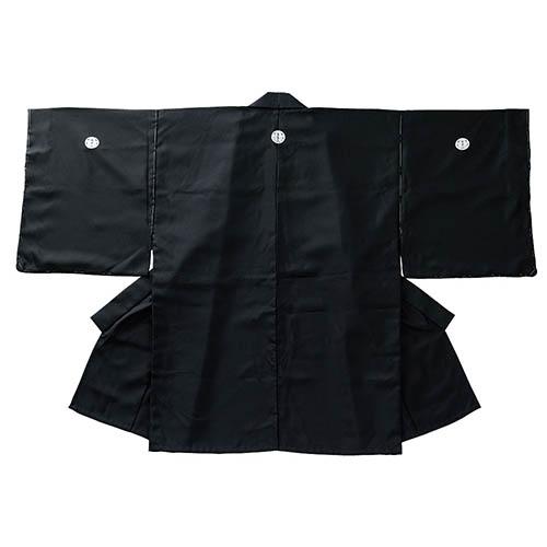 紋付着物・羽織 テトロン紋付着物(刺繍紋付) 黒・白 (居合) I-01A 居合