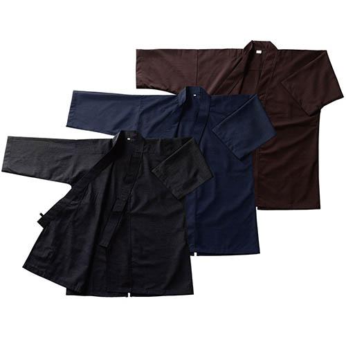 居合道衣 ツムギ筒袖 色:黒 (居合) I-22 居合
