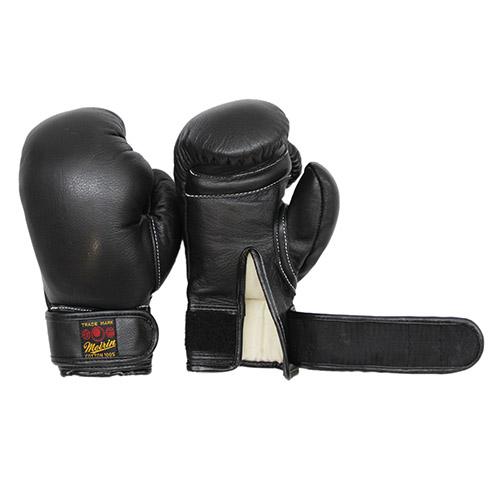 日本拳法グローブ 日本拳法グローブ(黒) 6オンス 少年用MT式(マジックテープ式) (日本拳法) N-20 日本拳法