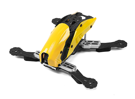 Tarot TL250C Space Through Machine FPV Full Carbon Fiber (Yellow) Frame Only
