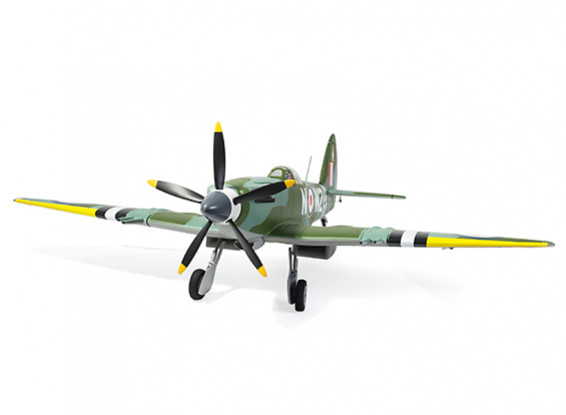 Durafly Supermarine Spitfire Mk24 V2 with Retracts/Flaps/Nav Lights 1100mm (43