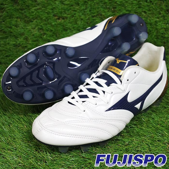 モナルシーダ 2 WIDE / MONARCIDA II(P1GA182914)ミズノ サッカースパイク ホワイト×ネイビー×ゴールド【ミズノ/Mizuno】
