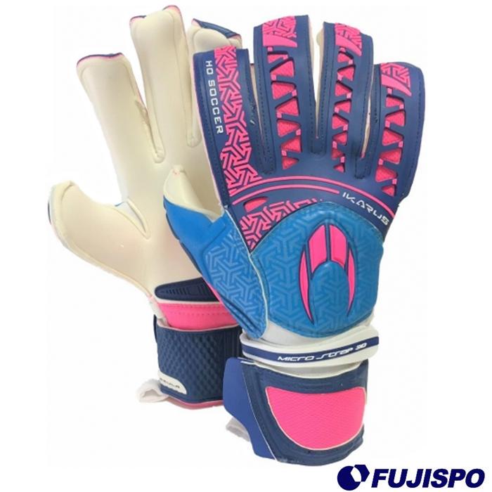 IKARUS ROLL NEGATIVE(510279) キーパーグローブ キーパー手袋 ピンク×ブルー エイチオーサッカー(HOSOCCER)