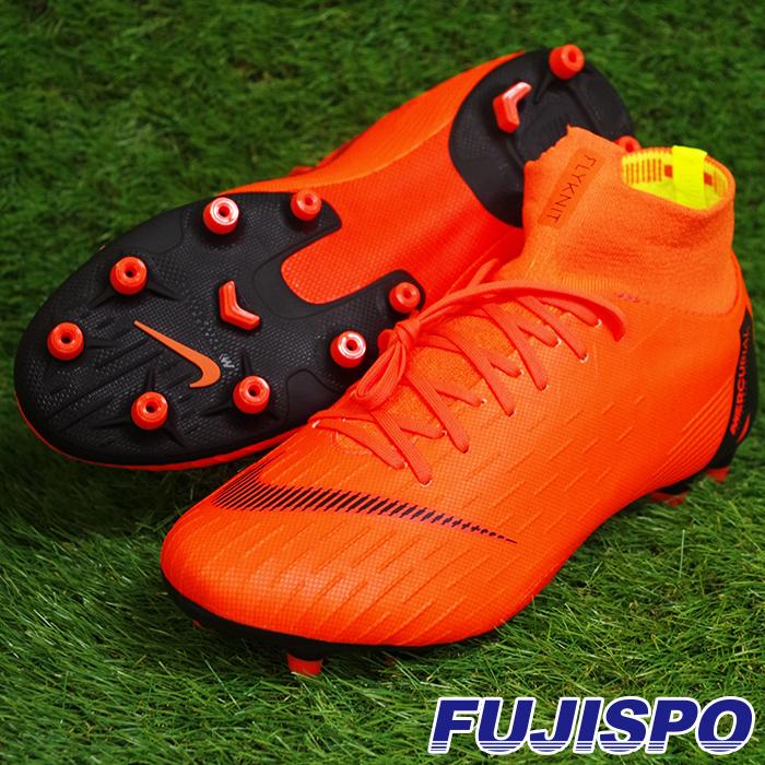 マーキュリアル スーパーフライ VI PRO AG-PRO ナイキ(NIKE) サッカースパイク トータルオレンジ×ホワイト×トータルオレンジ×ブラック (AH7367-810)