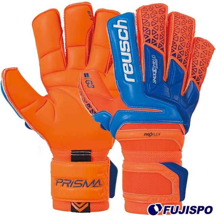 プリズマ デラックス G3(3870975-296) キーパーグローブ キーパー手袋 ショッキングオレンジ×ブルー ロイッシュ(reusch)