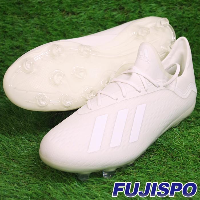 エックス 18.2-ジャパン HG/AG アディダス(adidas) サッカースパイク オフホワイト/×ランニングホワイト×コアブラック (BB6951)【2018年9月アディダス】