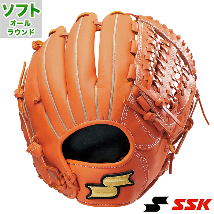 ソフトボール グラブ ス-パーソフト オールラウンド エスエスケイ(SSK) 【野球・ソフト】 グローブ 右投げ (SSS8050-35)