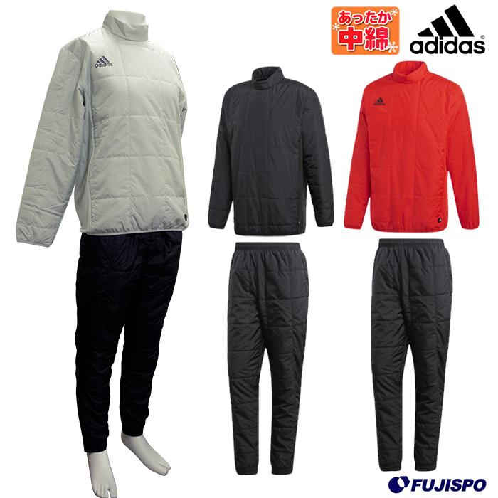 TANGO CAGE ウォームトップ・パンツ(中綿) 上下セット (EUV33-EUV51)アディダス(adidas) トレーニングトップ トレーニングパンツ トレーニングウエア 中綿 上下セット