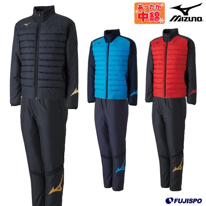 テックフィルシャツ ムーブウォーマーパンツ 上下セット(中綿) (P2ME8515-P2MF8520)ミズノ(Mizuno) 中綿ジャケット 中綿パンツ トレーニングウエア 上下セット