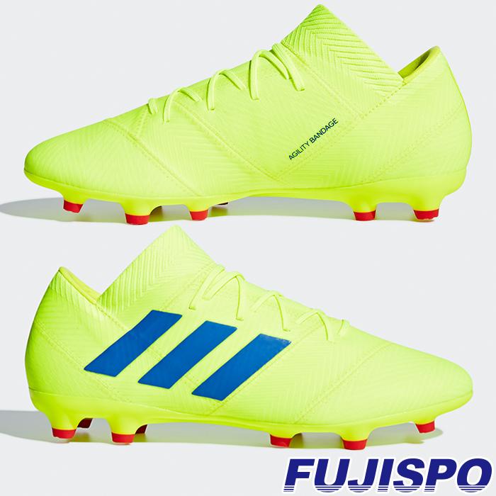 ネメシス 18.2 FG/AG アディダス(adidas) サッカースパイク ソーラーイエロー×フットボールブルー×アクティブレッドS19 (BB9431)【2019年2月アディダス】