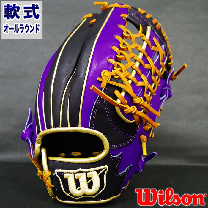 限定 軟式 カラー グラブ D-MAX オールラウンド ウィルソン(Wilson) 【野球・ソフト】 グローブ 右投げ (WTARDE5LF-9074)