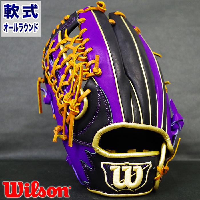 限定 軟式 カラー グラブ D-MAX オールラウンド ウィルソン(Wilson) 【野球・ソフト】 グローブ 左投げ (WTARDE5LFR-9074)