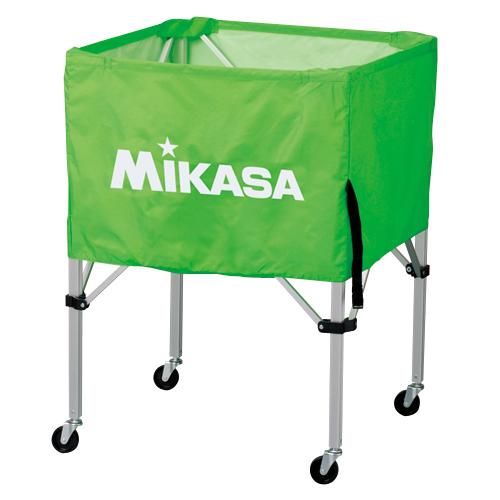 MIKASA ミカサ ボールカゴ 3点セット 箱型 中 ライトグリーン BC-SP-S-LG 【取り寄せ品】