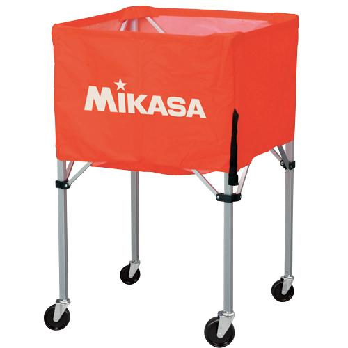 【3月1日限定全品ポイント2倍!】MIKASA ミカサ ボールカゴ 3点セット 箱型 中 オレンジ BC-SP-S-O 【取り寄せ品】 ホワイトデー