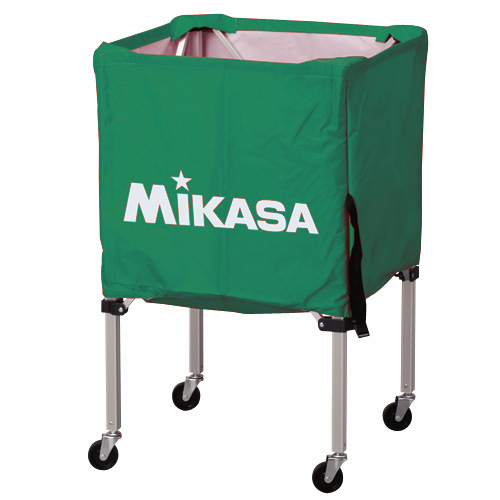 MIKASA ミカサ ボールカゴ 3点セット 箱型 小 グリーン BC-SP-SS-G 【取り寄せ品】