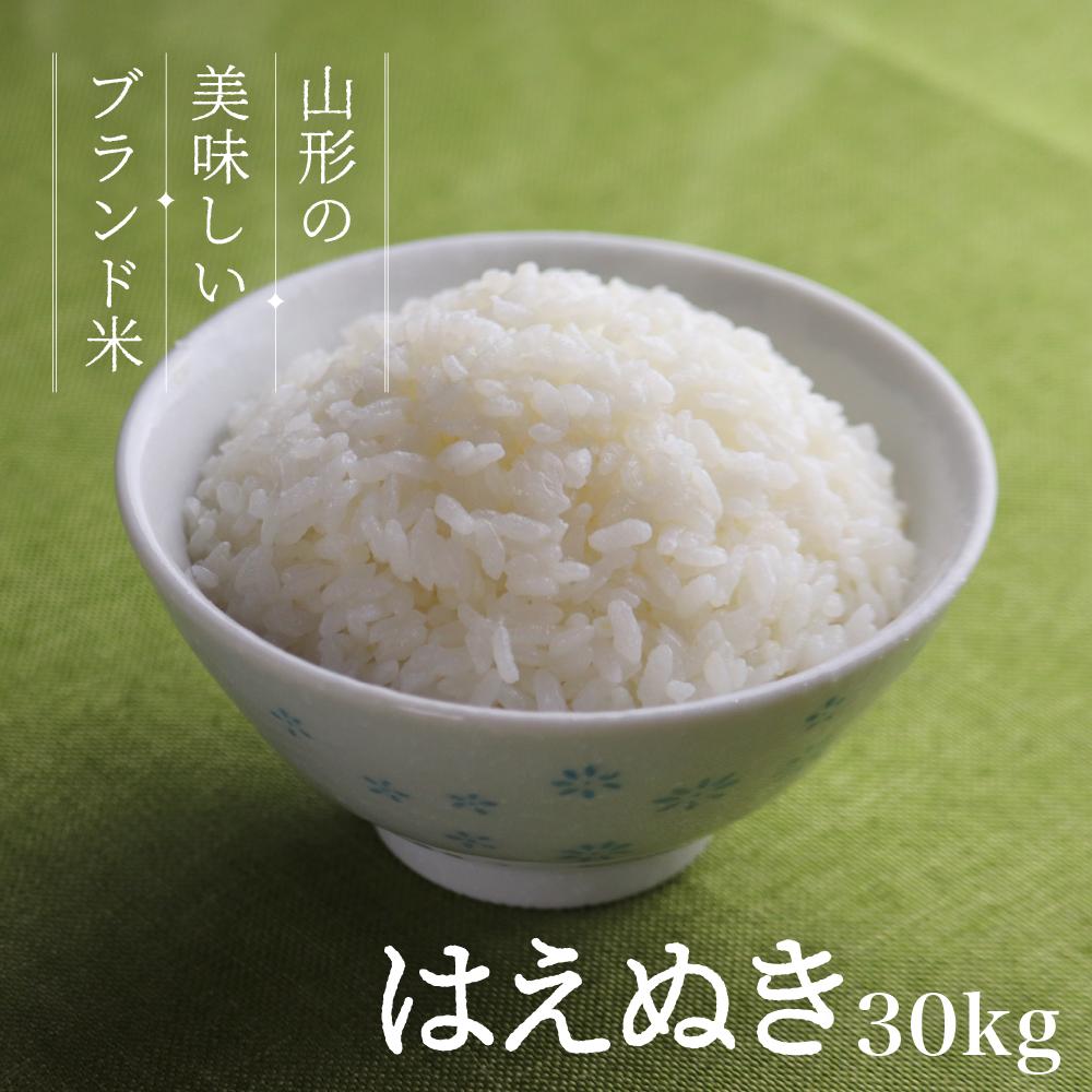 上等 山形県のおいしいお米 はえぬき 令和二年産 定番キャンバス 令和2年産 30kg 送料無料 お米 玄米 コメ 無洗米 精米 山形県産