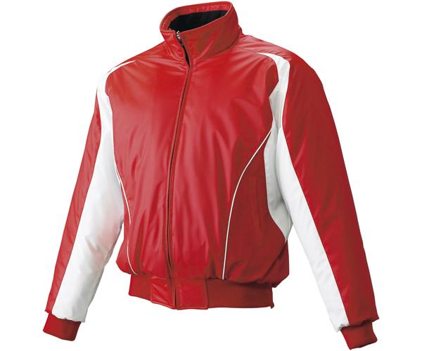 【取り寄せ品】 エスエスケイ SSK 野球 蓄熱グラウンドコート フロントフルZIP(中綿) SSK-BWG1002 (2010W)レッド×ホワイト×ホワイト メンズ・ユニセックス