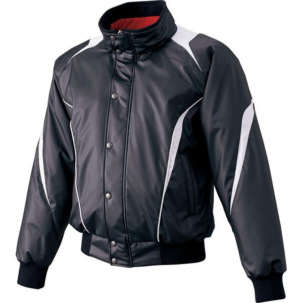【取り寄せ品】 エスエスケイ SSK 野球 蓄熱グラウンドコート フロントフルZIP+ボタン比翼付き(中綿) SSK-BWG1007 (9095)ブラック×シルバーグレー メンズ・ユニセックス