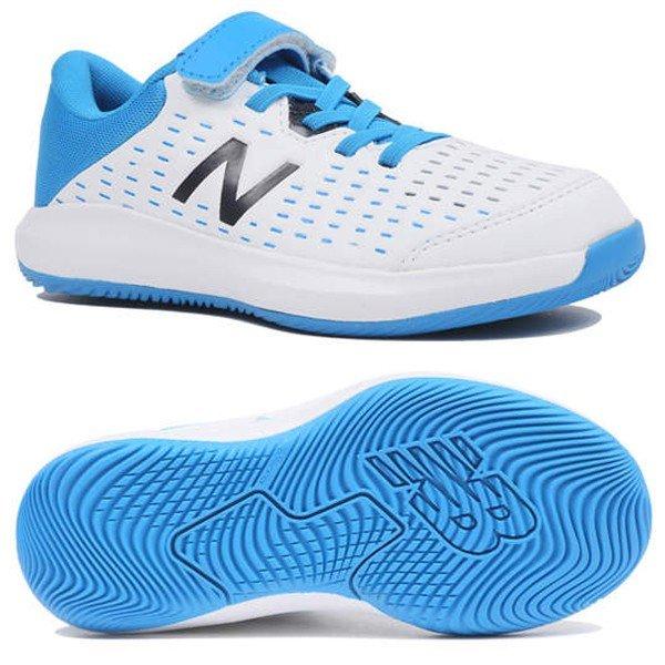 クリアランス! ニューバランス newbalance テニスシューズ オールコート ジュニア KCV696R4 W WHITE/BLUEカラー あす楽