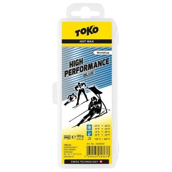 【クロスカントリースキー店舗】 トコ TOKO ワックス WAX スキー スノーボード フッ素高含有 ハイフッ素 ハイパフォーマンス ブルー 120g 5502033