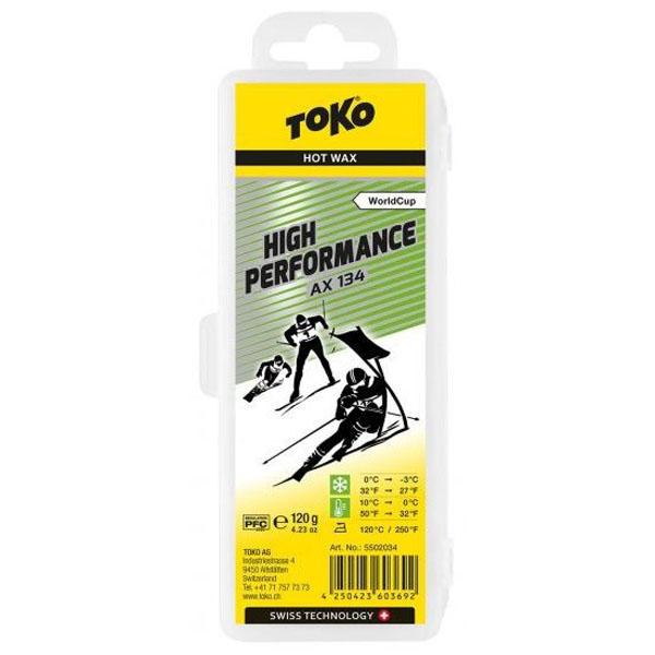 【クロスカントリースキー店舗】 トコ TOKO ワックス WAX スキー スノーボード フッ素高含有 ハイフッ素 ハイパフォーマンス AX134 120g 5502034