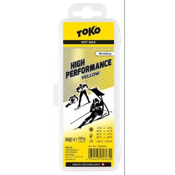 【クロスカントリースキー店舗】 トコ TOKO ワックス WAX スキー スノーボード フッ素高含有 ハイフッ素 ハイパフォーマンス イエロー 120g 5503025
