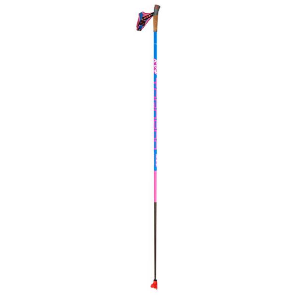 【クロスカントリースキー店舗】 KV+ ケーブイプラス クロスカントリースキー ポール トルネード ピンク クリップ 9P004QP