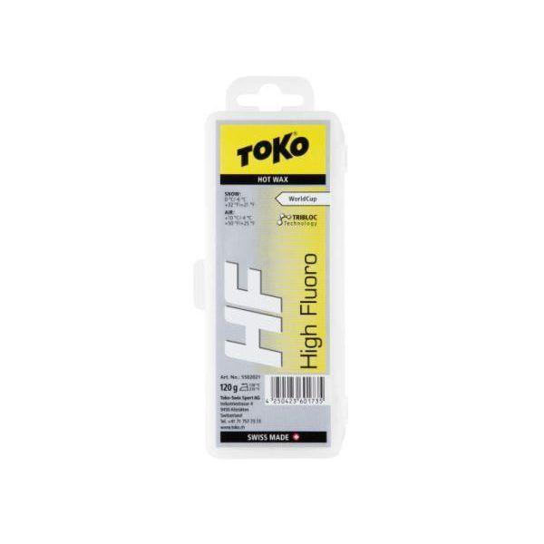 【クロスカントリースキー店舗】 トコ TOKO ワックス WAX スキー スノーボード クロスカントリースキー フッ素高含有 ハイフッ素 トリブロック HFイエロー 120g 5502021