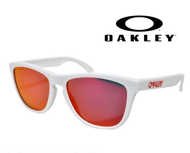 OAKLEY FROGSKINS POLISHED WHITE/RUBY IRIDIUM 【009013-5517-24-307】