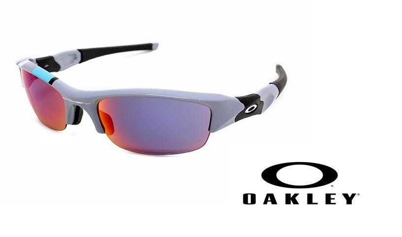 OAKLEY 【Flak Jacket】 Polished Fog/Positive Red Iridium 【26-263J】