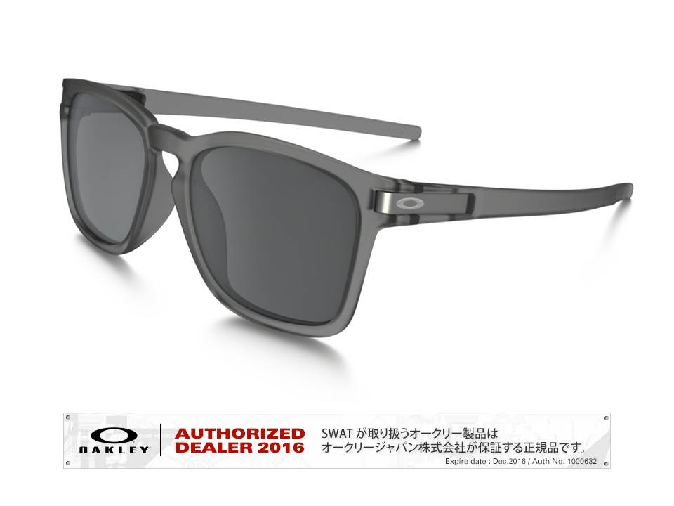 OAKLEY 【Latch™ SQ 】Asia Fit matte gray ink/black iridium 【009358-5517-935802】