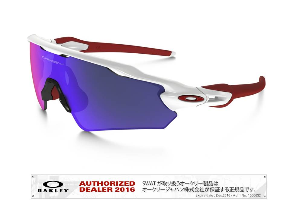 OAKLEY 【Radar® EV Path™ 】 Asia Fit polished white/+red iridium 【009275-0135-927509】