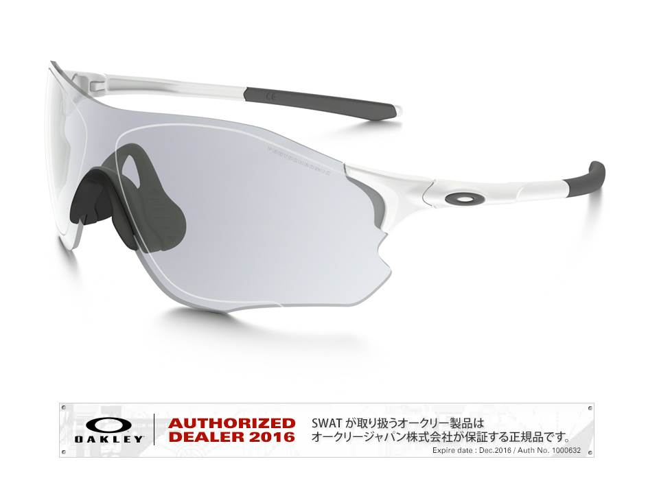 OAKLEY 【EVZero Path】 Asia Fit matte white/clear black iridium photochromic activated 【009313-0138-931306】