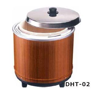 熱研 電気びつエバーホット すしシャリ用 (木枠タイプ) NV-25(2.5升) 木目〈DHT-02〉