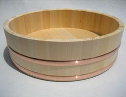 国産高級さわら材「 寿司桶・飯切 」約6升用(72cm)