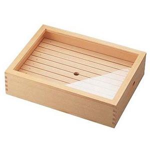 木製「ネタ箱」大〈35585〉目皿・アクリル蓋付(抗菌)〈ANT-11〉寿司ネタや刺身に