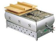 ガス式 おでん鍋8仕切(尺8)木蓋付き