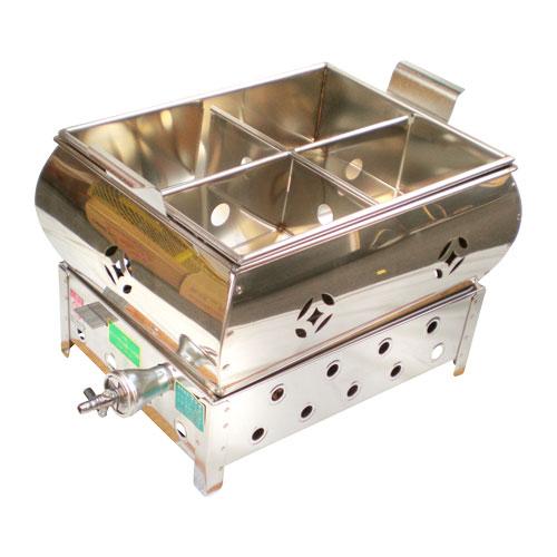 ガス式 おでん鍋4仕切(尺2)