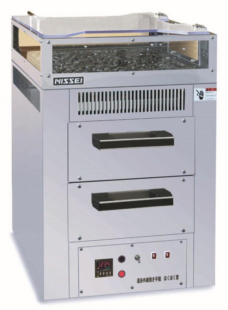 遠赤外線電気焼きいも機「ほくほく君」NEY-11W 2段式受注生産品のため代引き不可